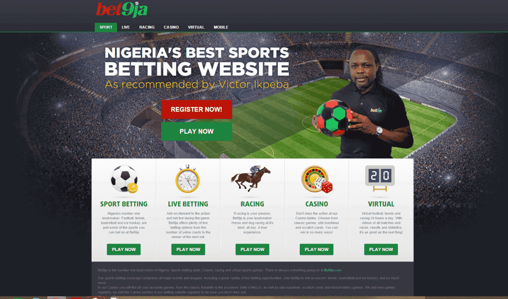 Bet9ja Promotion Code 2019: Use SPORTMAX for 100% up to ₦100,000