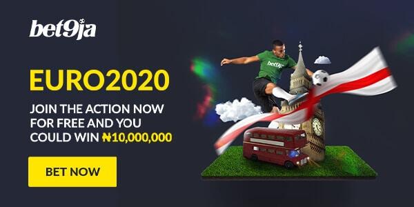 bet on euro 2020 matches on Bet9ja